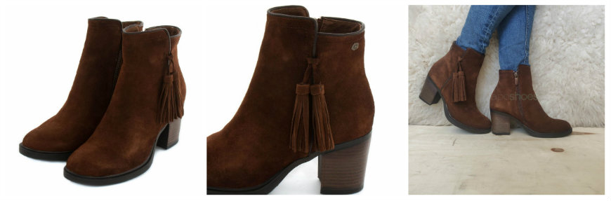 carmela serraje camel ankle boots