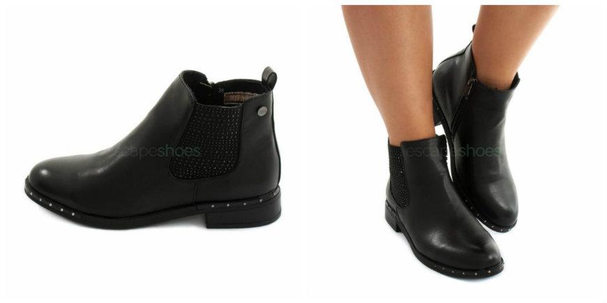 black xti ankle boots