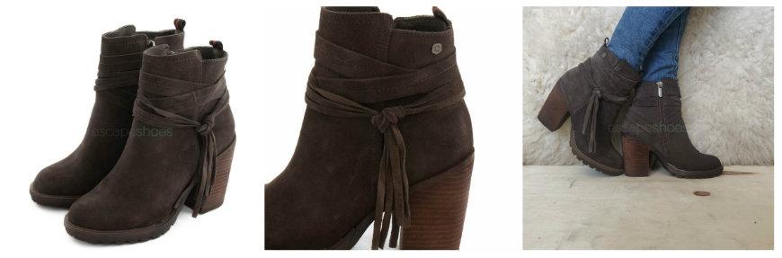 carmela grey ankle boots