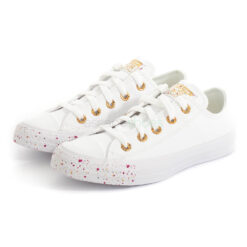Sneakers CONVERSE All Star Chuck Taylor 566728C White and Rose