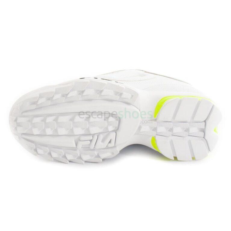 Tenis FILA Disruptor Logo Low Branco e Preto 1010748-92QD