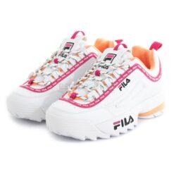 Zapatillas FILA Disruptor Logo Low Blanco y Morado 1010748-92UD