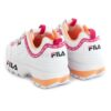 Tenis FILA Disruptor Logo Low Branco e Purpura 1010748-92UD