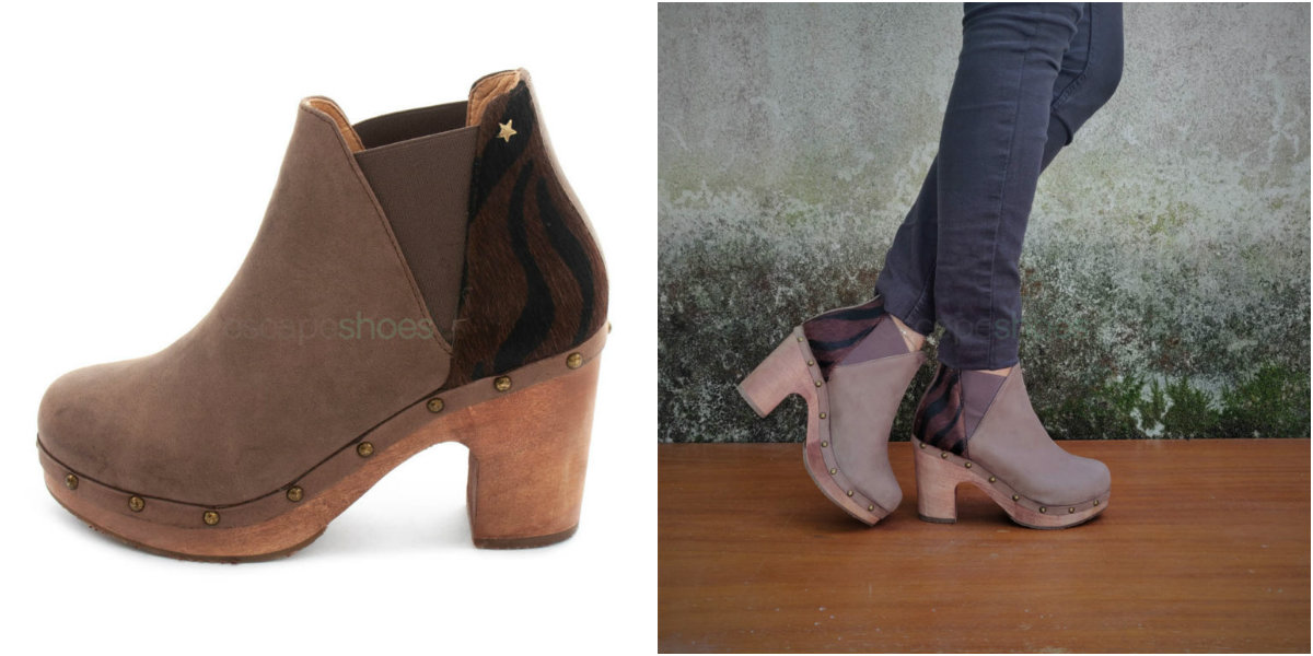 tribal chocolate ankle boots