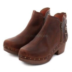 Ankle Boots XUZ With Cuts Brown 25615-CS