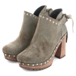 Ankle Boots XUZ Pop Back Bow Grey 26098-C