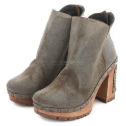 Ankle Boots XUZ Pop Studs High Heel Grey 26094-C
