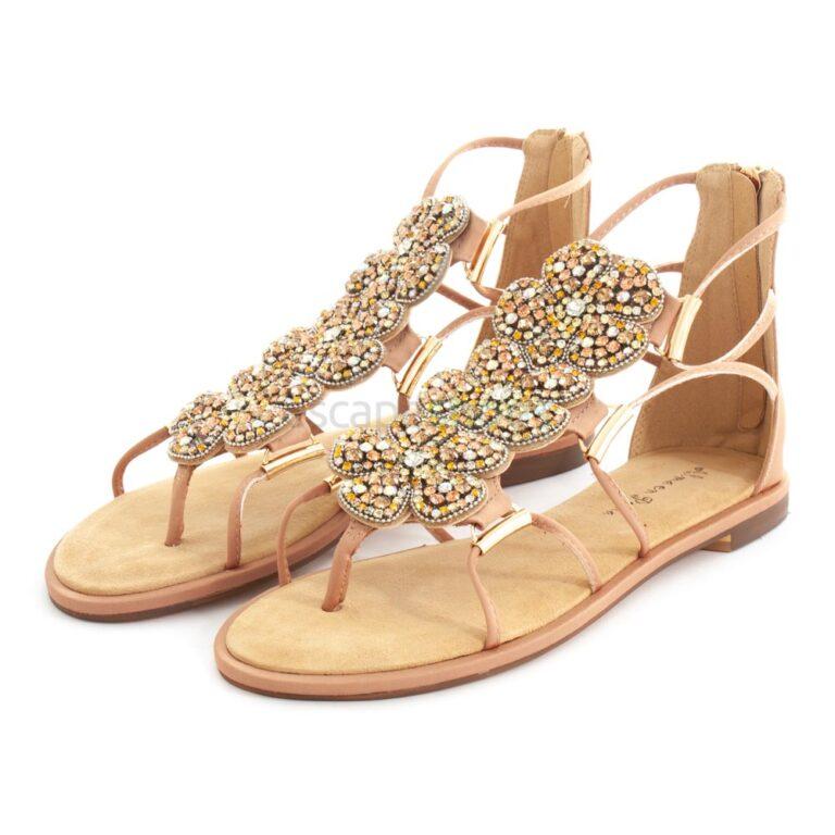 Sandals ALMA EN PENA Suede Sand V20977