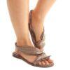 Sandálias ALMA EN PENA Suede Taupe V20930