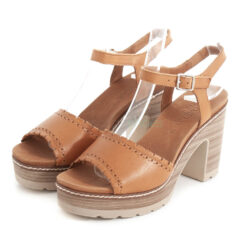 Sandalias CARMELA Heel Leather Camel