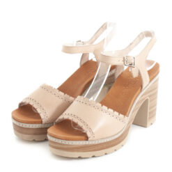 Sandals CARMELA Heel Leather Hielo
