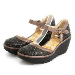 Sandals FLY LONDON Idra Yven029 Black and Bronze