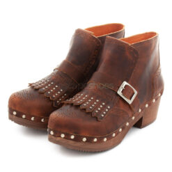 Ankle Boots XUZ Wood Fringes and Buckle 26097
