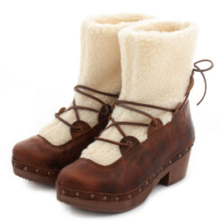 Ankle Boots XUZ Fur and Ties Brown 26096-CS