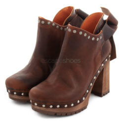 Ankle Boots XUZ Pop Back Bow Brown 26098-CS