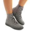 Ankle Boot XUZ Rubber Sole Textile British 25996-TB