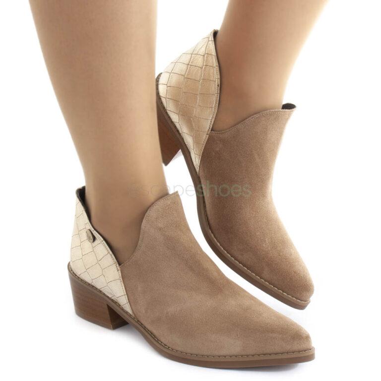 Ankle Boots RUIKA Suede Croco Beige 81/302-C