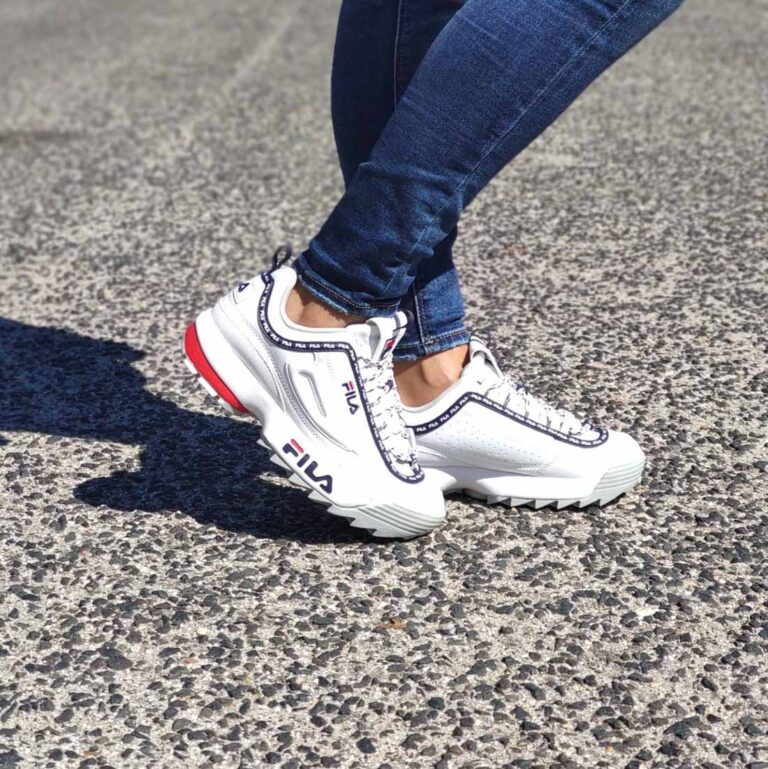 Sneakers Fila Disruptor Logo Low White Navy 1010748-92ND