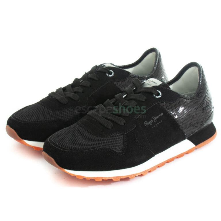 Zapatillas PEPE JEANS Verona W Full Sequins Negras PLS31096 999