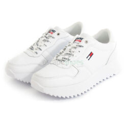 Tenis TOMMY HILFIGER High Cleated Leather EN0EN01120 White