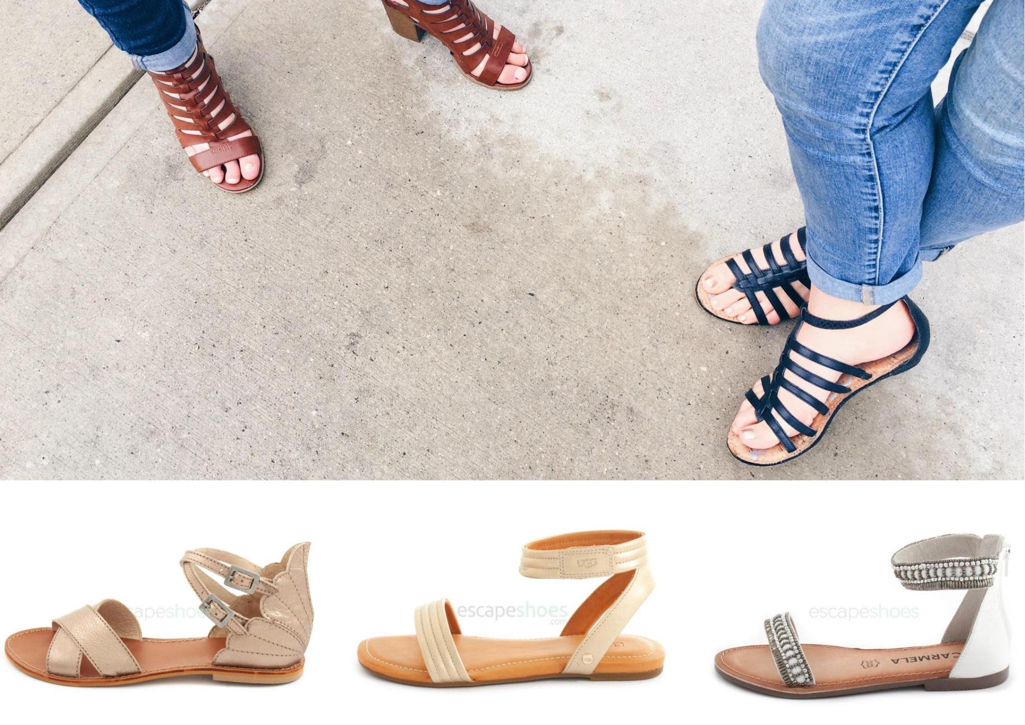 sandálias com tira