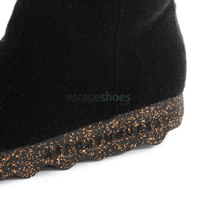 Botins ASPORTUGUESAS Cosy Tweed Black