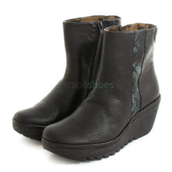 Ankle Boots FLY LONDON Yellow Yulu252 Snake Black P501252000
