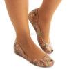 Flat Shoes MELISSA Ultragirl Rosebleu Gold MW.20.143B