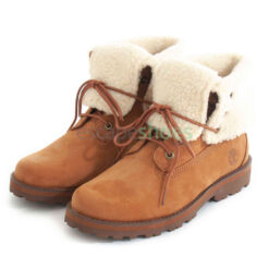 Botas TIMBERLAND Courma Kid Shearling Roll Top Saddle A2MJW