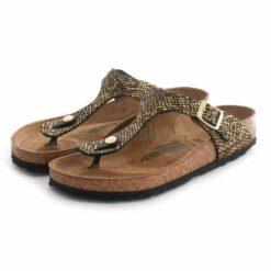 Sandalias BIRKENSTOCK Gizeh Mf Shiny Python Black 1018464