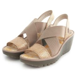 Sandals FLY LONDON Yaji888 Diamond Tan Gold P500888017