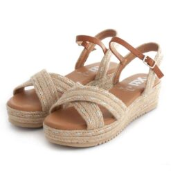 Sandals XTI Wedge Raffia 42351 Beige