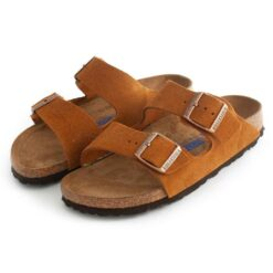 Sandals BIRKENSTOCK Arizona Sfb Vl Mink 1009527