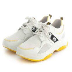 Sneakers RUIKA Leather White Yellow 38/6315