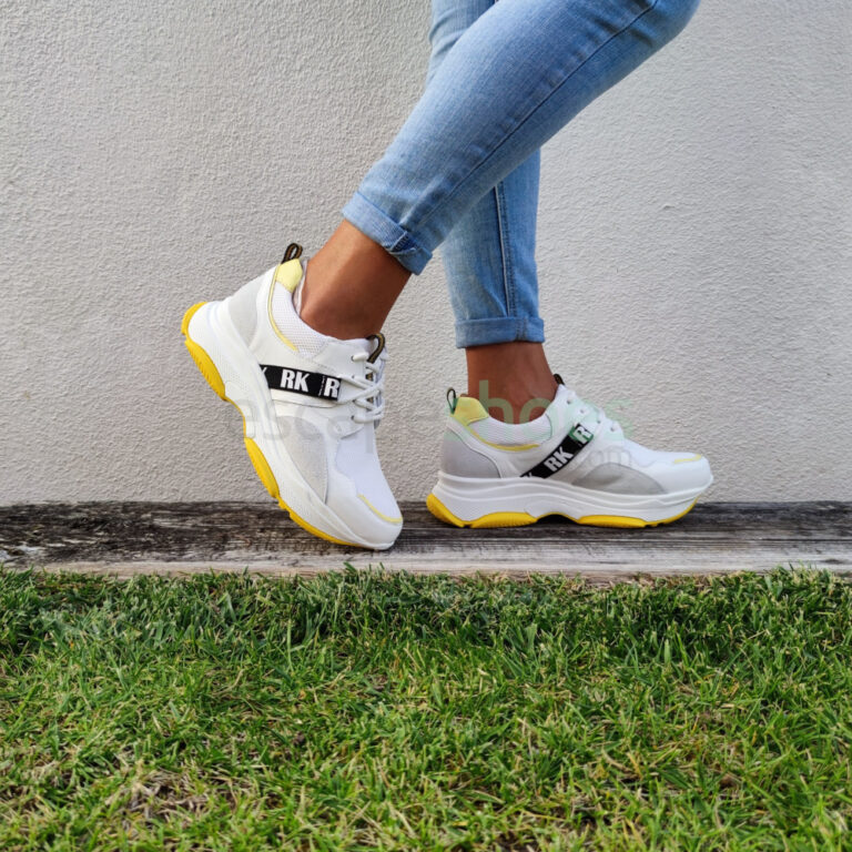 Sapatilhas RUIKA Pele Branco Amarelo 38/6315