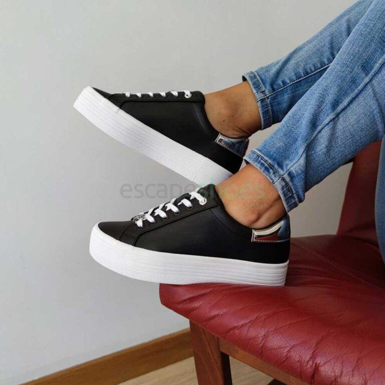 Sapatilhas CALVIN KLEIN Flatform LaceUp Black