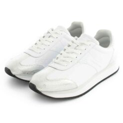 Sneakers CALVIN KLEIN Laceup Brigth White Sylver Python