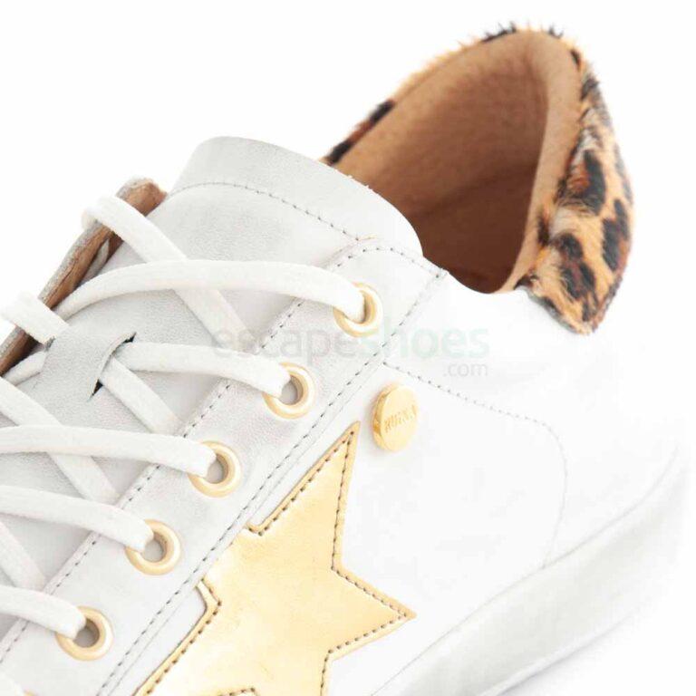 Sapatilhas RUIKA Pele Branco Leopardo 35/4952