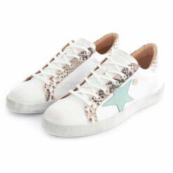 Sneakers RUIKA Leather White Green 35/4952