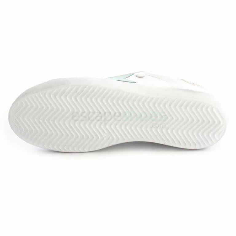 Sapatilhas RUIKA Pele Branco Verde Agua 35/4952