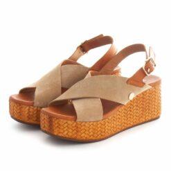 Sandals RUIKA Suede Bege 63/21122A
