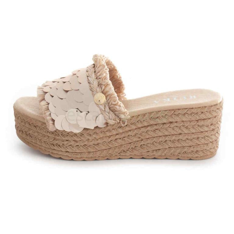 Sandals RUIKA Lantejola Platino 63/1673