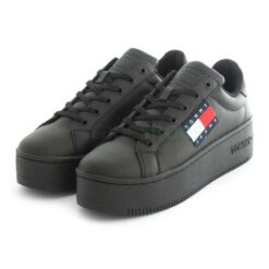 Tenis TOMMY HILFIGER Flatform Flag Branding Sneaker Black