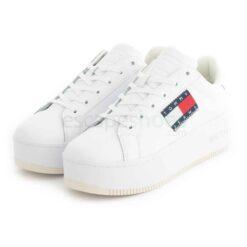 Tenis TOMMY HILFIGER Flatform Flag Branding Sneaker White