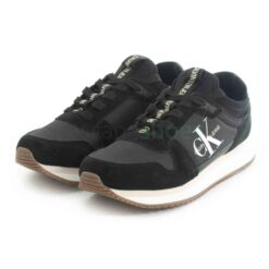 Tenis CALVIN KLEIN Runner Laceup Sneaker Sock Black